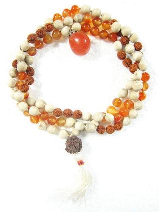 BoHo Necklace, Japamala, Rudraksha Carnelian Stone Meditation Healing Mala | Bohemian Fashion | Scoop.it