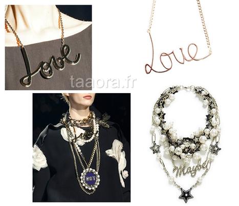 Collier à message style Lanvin, les inspirations de Zara et Pull and Bear | manal | Scoop.it