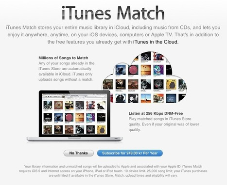 iTunes Match Expands to Finland, Denmark, Norway and Sweden | Daily Magazine | Scoop.it