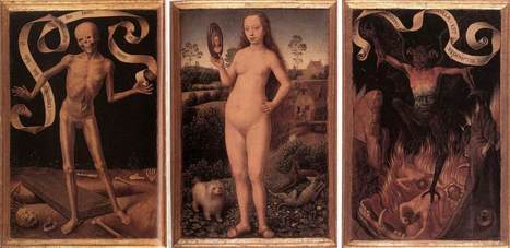 Hans Memling, Triptych of Earthly Vanity and Divine Salvation,... | Affinities | Scoop.it
