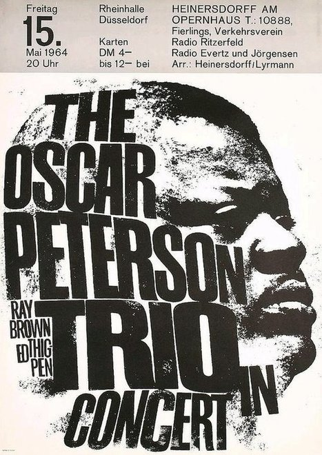 Scattered thoughts. — Oscar Peterson Trio in Düsseldorf, 1964  | Jazz Plus | Scoop.it
