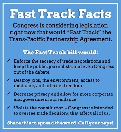 Flush the TPP Update -- With New Wikileaks Release, Momentum Builds Against Fast Track!   DidYouCheckFirst   Scoop.it