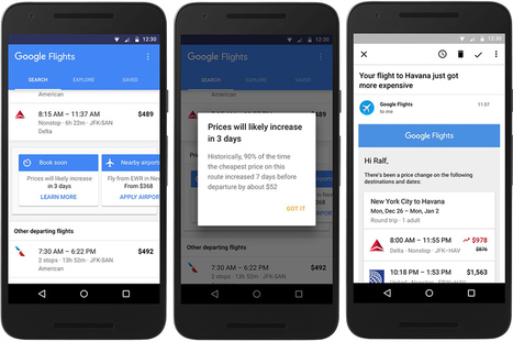 Google Flights Now Notifies Flyers When Airfares Will Expire | Médias sociaux et tourisme | Scoop.it
