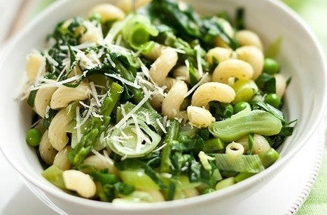 Leek, asparagus and pea pasta - Healthy vegetarian recipes | Vegetarian recipes and cooking | Scoop.it