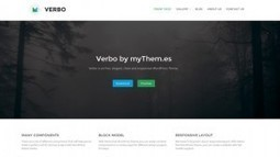 Verbo - A Modern Business WordPress Theme | Free & Premium WordPress Themes | Scoop.it