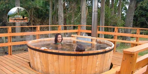 Le bain de patagonie ou spa d 39 ext rieur for Spa beton autoconstruction
