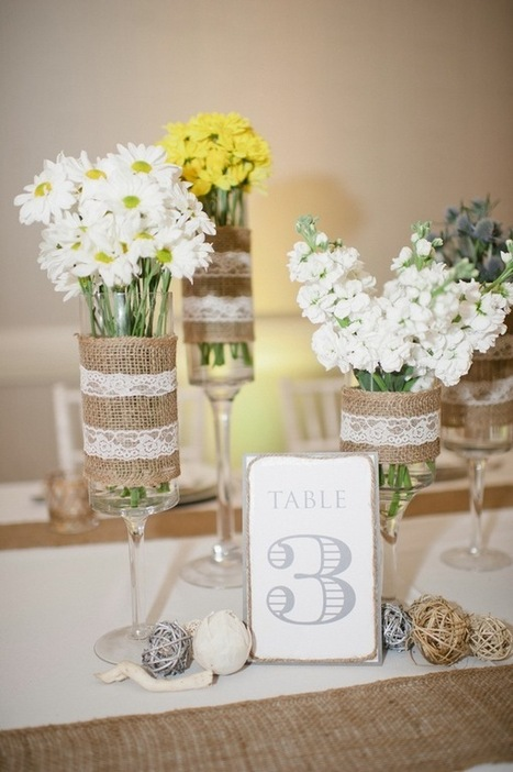 Burlap & Lace: Rustic-Chic Wedding Inspiration | Rustic Chic Wedding | Scoop.it