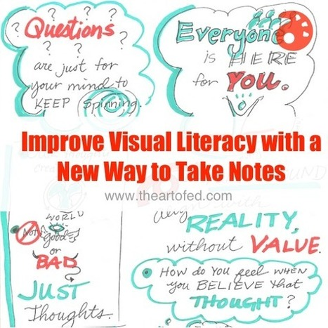 Improve Visual Literacy with a New Way to Take Notes | The Art of Ed | Visual Thinking | Scoop.it