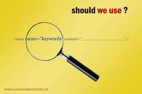 Is the meta tag keywords needed for SEO? - | JQuery | PHP | HTML5 | CSS3 | AJAX | SEO | Scoop.it