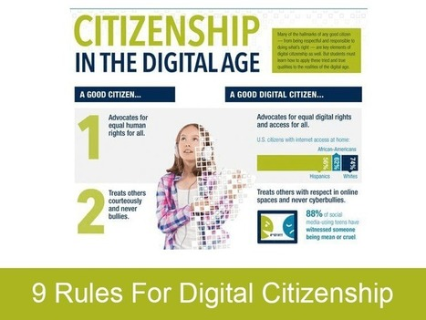 9 Rules For Digital Citizenship | M-learning and Blended Learning in 9-12 Education | Scoop.it