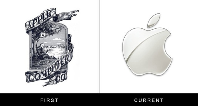 What Logos Of Famous Companies Looked Like When They First Started Out