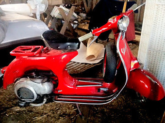 "Scuderia Vespa Svedese: Some ""new"" Vespas discovered 