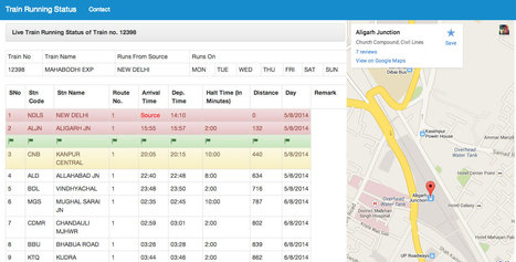 Train Running Status - Live Train Running information and location on Google Maps. | All Indian Tech | Scoop.it