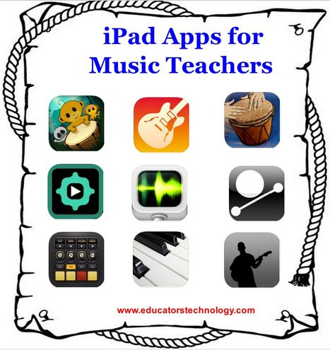 30 iPad Apps for Music Teachers ~ Educational Technology and Mobile Learning | Personal Learning Network | Scoop.it
