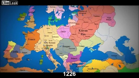 Watch as 1000 years of European borders change | JWK Geography | Scoop.it