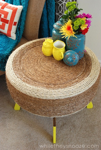 How-To: Upcycled Tire Table | Pintrest.com | Scoop.it