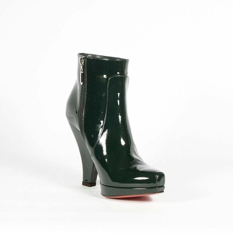 Cesare Paciotti Womens Shoes Green Patent Leather Boots | Designer Womens Shoes | Scoop.it
