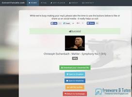 ConvertToAudio : un nouveau service en ligne pour convertir les vidéos du web | Freewares | Scoop.it