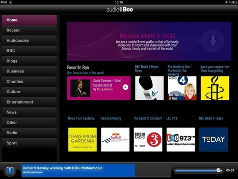 Introducing the Audioboo iPad listening app! | The Audioboo blog | mrpbps iDevices | Scoop.it