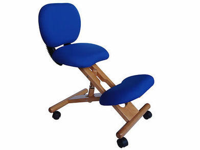 Wooden Ergonomic Kneeling Chair Reclining Blue in Canada | Backs2Beds.ca | Buy Online Office & Home Furniture at Backs2Beds.ca | Scoop.it