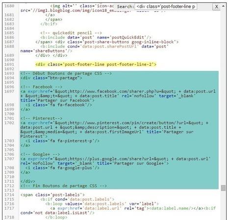 Créer des boutons de partage en HTML et CSS pour Blogger: Lady bird red | Au fil du Web | Scoop.it