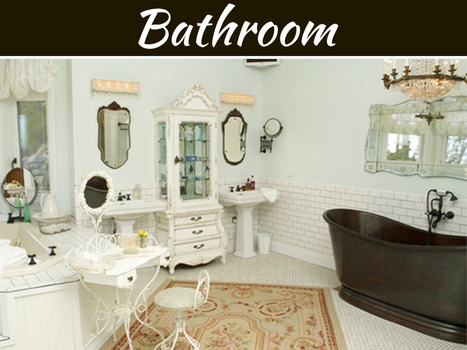 Shabby Chic For An Elegant Bath | MyDecorative | Scoop.it