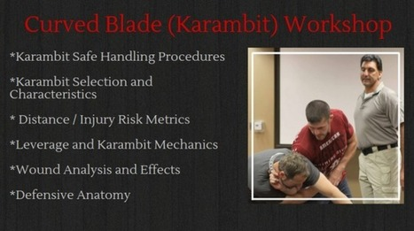 Curved Blade (Karambit) Workshop at Aegis Academy in San Diego | Firearm Training, Gun Safety and Unarmed Courses | Scoop.it