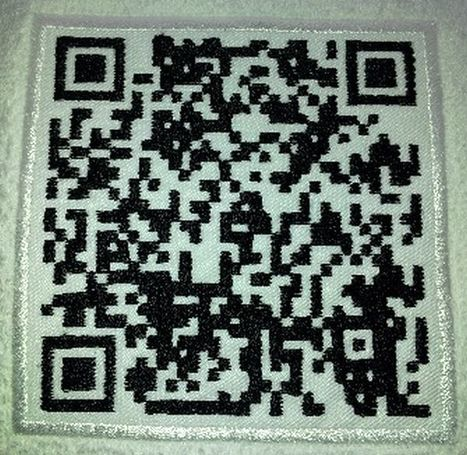 Machine Embroidered QR Codes - 2d-code | Using QR Codes | Scoop.it