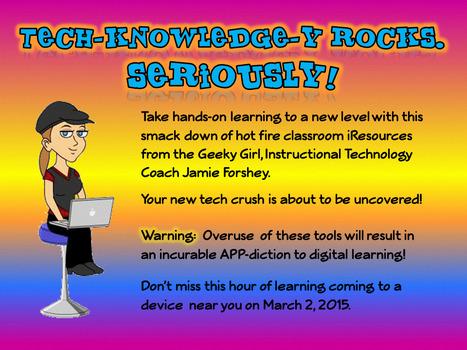 TL Virtual Cafe: Tech-knowledge-y Rocks. Seriously! Free Webinar | My School Library issues | Scoop.it