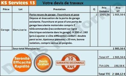 KS Services 13: Chiffrage travaux pose porte de garage : Bouches du Rhône | Courtier en travaux Bouches du Rhône | Scoop.it