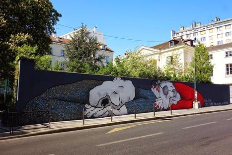 Sunday Street Art : Ella & Pitr - Pavillon Carré de Baudouin - rue de Ménilmontant - Paris 20   Paris la douce   Richard and Street Art   Scoop.it