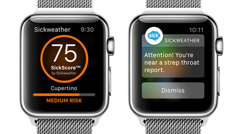 Sickweather Apple Watch app puts a 'Geiger counter for sickness' on your wrist | Mobile Technology | Scoop.it