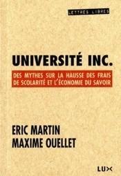 Déconstruire les mythes sur la hausse des droits de scolarité comme tâche intellectuelle – Le Mouton Noir | Archivance - Miscellanées | Scoop.it