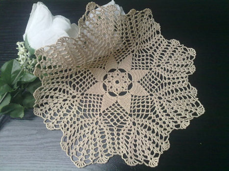 Ecru Crochet Doily, Round, 11 inches, Country Home Decor | Crochet Miracles Shop on Etsy | Scoop.it