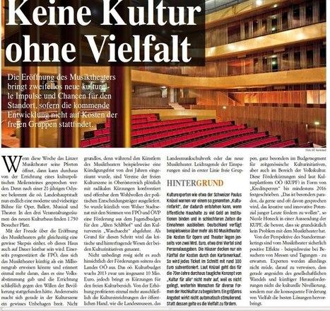 BASICS: Keine Kultur ohne Vielfalt | OÖ Musiktheater | Scoop.it