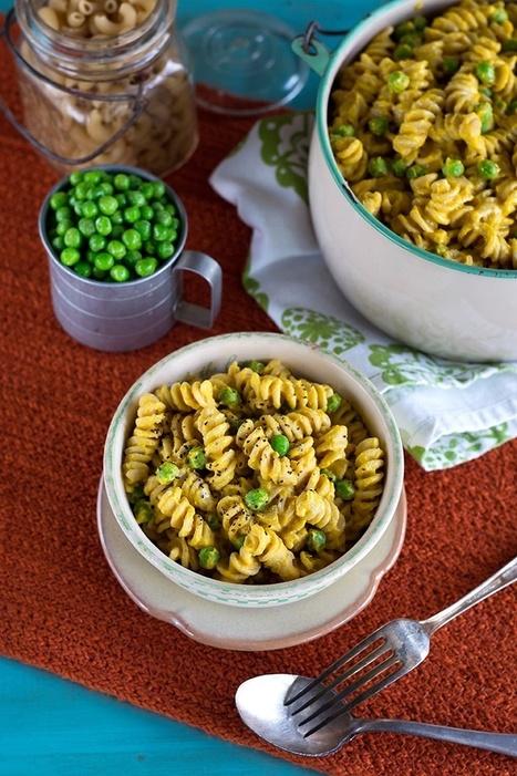 Vegan Mac 'n Peas with Creamy Butternut Squash Sauce | Vegan Food | Scoop.it