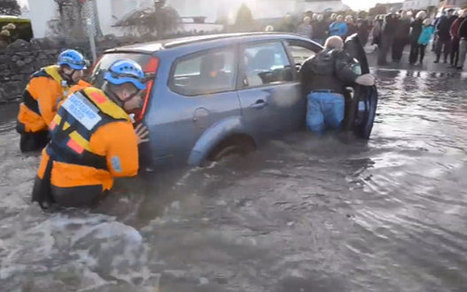 UK weather: car rescued from flood waters in Cumbria - Telegraph | Cumbria | Scoop.it