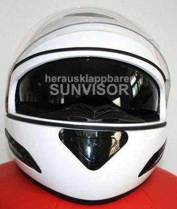 @@@   Integralhelm Motorradhelm Sonnenblende – weiß Gr. XXL | Integralhelme Günstig Kaufen | Scoop.it