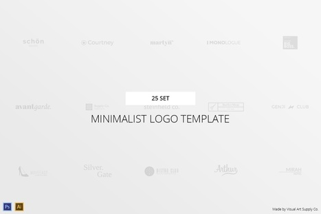25 Set Minimalist Logo Template for free   Freakinthecage Webdesign Lesetips   Scoop.it