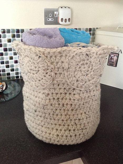 Crochet Owl Basket / Hamper - made to order   Handmade items   Scoop.it