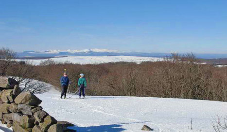 L'Aubrac sous la neige, le plan des pistes raquettes, ski de fond et ski alpin | L'info tourisme en Aveyron | Scoop.it