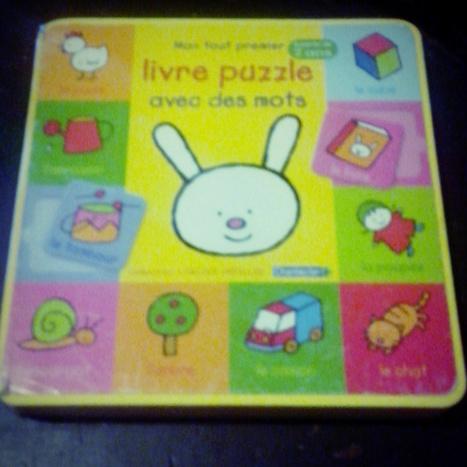[Chut les enfants lisent...] Mon tout premier livre puzzle avec des mots | Jeu puzzles | Scoop.it