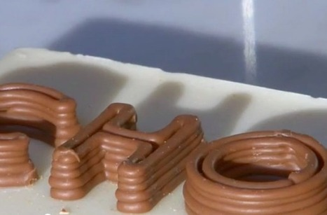 3D Chocolate Printer Produces Personalized Sweets | 3D printing topics | Scoop.it