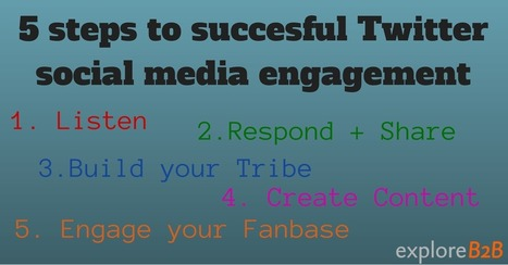 A Practical Guide: 5 steps to succesful Twitter social media engagement - exploreB2B | TechLib | Scoop.it