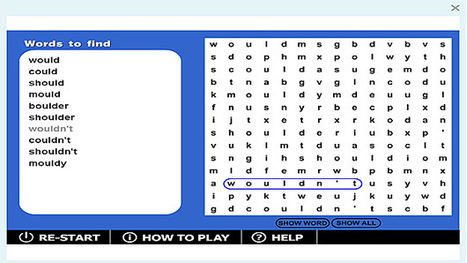 Wordsearch '-ould' game | Sites that help our spelling | Scoop.it