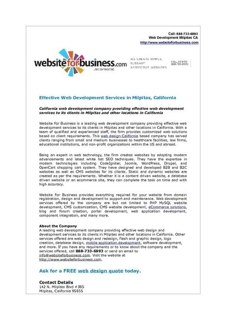 Web Development Services by Website For Business, Milpitas, California | Web Development | Scoop.it