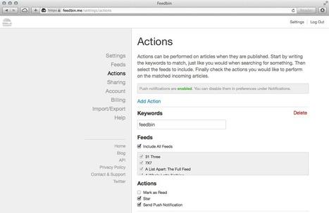 Feedbin Actions: Workflows for Your RSS Feeds | RSS Circus : veille stratégique, intelligence économique, curation, publication, Web 2.0 | Scoop.it