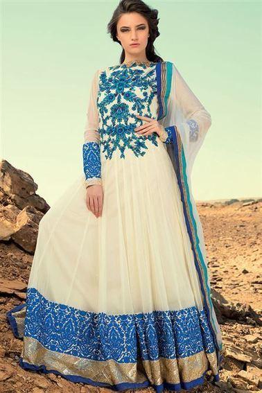 Designer Floor Length Long Anarkali Suit | Buy Designer Anarkali Suits Online | Scoop.it