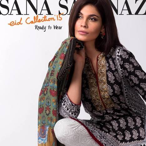 Sana Safinaz Silk Dresses Collection for Eid 2015Live Style Vogue | Hot Fashion | Scoop.it