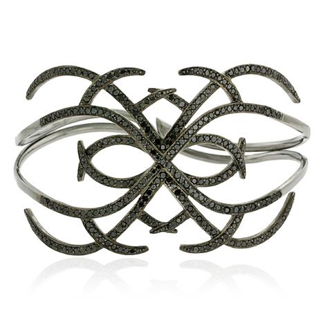 Black Diamond Cuff Bangle | Diamond Jewelry | GemcoDesigns | Pave Diamond Bangle | Diamond Jewelry | GemcoDesigns | Scoop.it